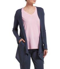 hue women's solid pajama cardigan