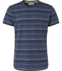 no excess t-shirt s/sl, r-neck, yd multi col navy
