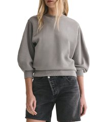 women's agolde thora sweatshirt, size small - grey