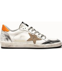 golden goose deluxe brand sneakers ball star colore bianco argento