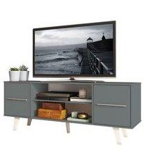 rack para tv até 55 polegadas madesa copenhagen cinza 60093z1