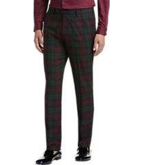 paisley & gray slim fit suit separates tuxedo pants oxblood tartan