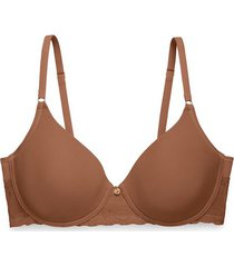 natori bliss perfection contour underwire bra, t-shirt bra, women's, brown, size 32c natori
