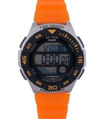 reloj naranja-gris casio
