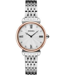 seiko women's crystals two-tone stainless steel bracelet watch 29.6mm
