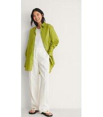 na-kd trend recycled oversize skjorta med ficka - green