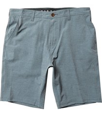 men's vissla fin rope hybrid walking shorts, size 30 - blue