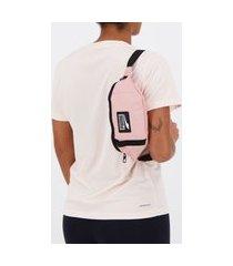 pochete puma deck rosa e preta