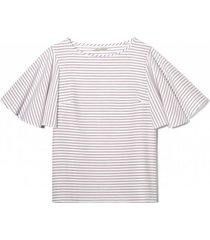 bluzka w paski loungewear