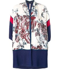 antonio marras floral sequinned knitted cardigan - blue
