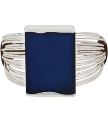 robert lee morris soho silver-tone & blue patina geometric cuff bracelet