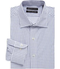 saks fifth avenue men's classic-fit check dress shirt - blue - size 16.5 34-35