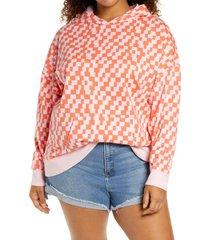 plus size women's bp. print organic cotton hoodie, size 2x - pink