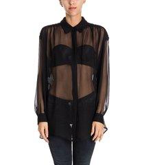 silk voile blouse