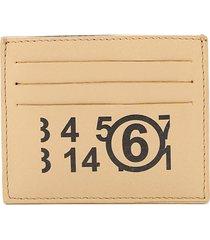mm6 maison margiela logo print card holder