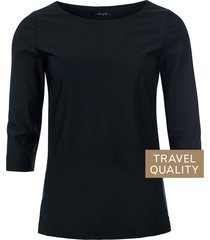 dayz bianca boothals top in travel stof zwart