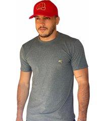 camiseta básica small logo camo gris fist hombre