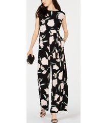 jessica howard petite floral-print jumpsuit