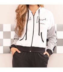 chaqueta evelina blanco para mujer croydon