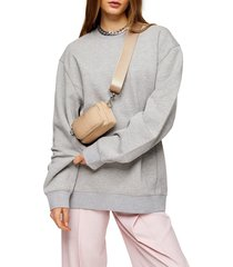 women's topshop relaxed panel sweatshirt