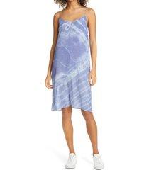women's nicole miller tie dye slipdress, size x-large - blue