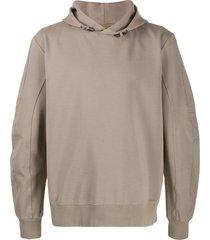 1017 alyx 9sm toggle sleeve boxy hoodie - neutrals