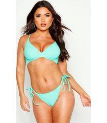 mix & match underwired bikini top, aqua