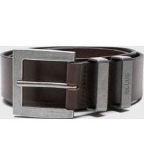 cinturón hebilla rectangular marrón ellus