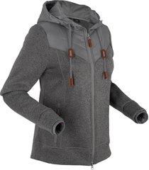 giacca in pile con cappuccio (grigio) - bpc bonprix collection