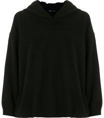 uma raquel davidowicz chaska wool zip-up hoodie - black
