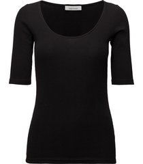 alexa tee 7542 t-shirts & tops short-sleeved svart samsøe & samsøe
