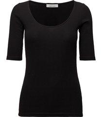 alexa tee 7542 t-shirts & tops short-sleeved svart samsøe samsøe