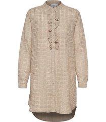 u1854, woven tunic l/s tuniek beige saint tropez