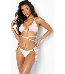 driehoekige ombre bikini top met bandjes, pink