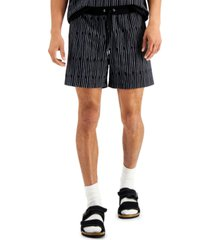 """inc men's regular-fit broken stripe 5"""" french terry shorts, created for macy's"""