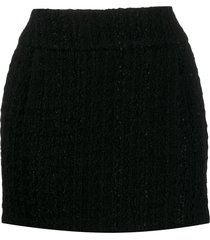alexandre vauthier textured mini skirt - black
