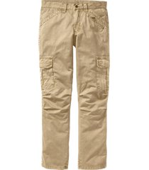 pantaloni cargo loose fit straight (beige) - rainbow