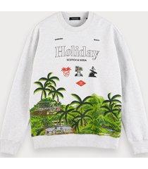 scotch & soda holiday artwork sweatshirt