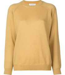 classic crewneck sweater yellow