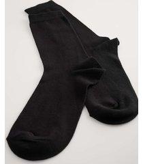 na-kd lingerie organiska basic strumpor i 5-pack - black