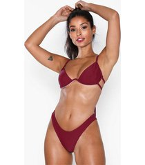 missguided high leg bikini bottoms trosa