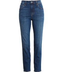 women's kut from the kloth meghan high waist ankle cigarette jeans, size 14 - blue
