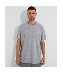 camiseta manga curta em algodão sem estampa | viko | cinza médio | gg
