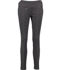 fracomina donkergrijze slim fit ankle stretch pantalon