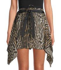 roberto cavalli women's gonna printed skirt - black white - size m