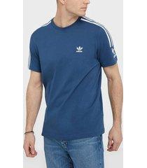 adidas originals tech tee t-shirts & linnen marin blå