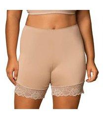 short feminino segunda pele lingerie com renda