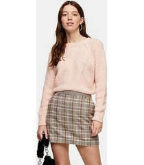 pink swirl cropped sweater - pale pink