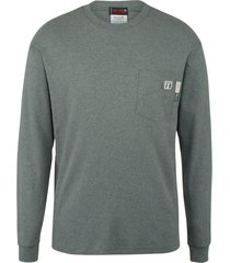 wolverine men's fr long sleeve graphic tee - texas ash, size l
