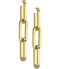bronze-plated chain link earrings